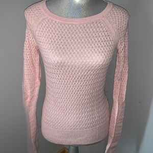 American Eagle Pink Sweater with Metal Zipper